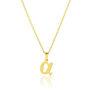 Μενταγιόν Alphabet γράμμα ''α'' από χρυσό 18Κ
