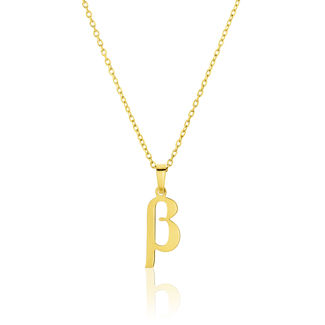 Μενταγιόν Alphabet γράμμα ''β'' από χρυσό 18Κ