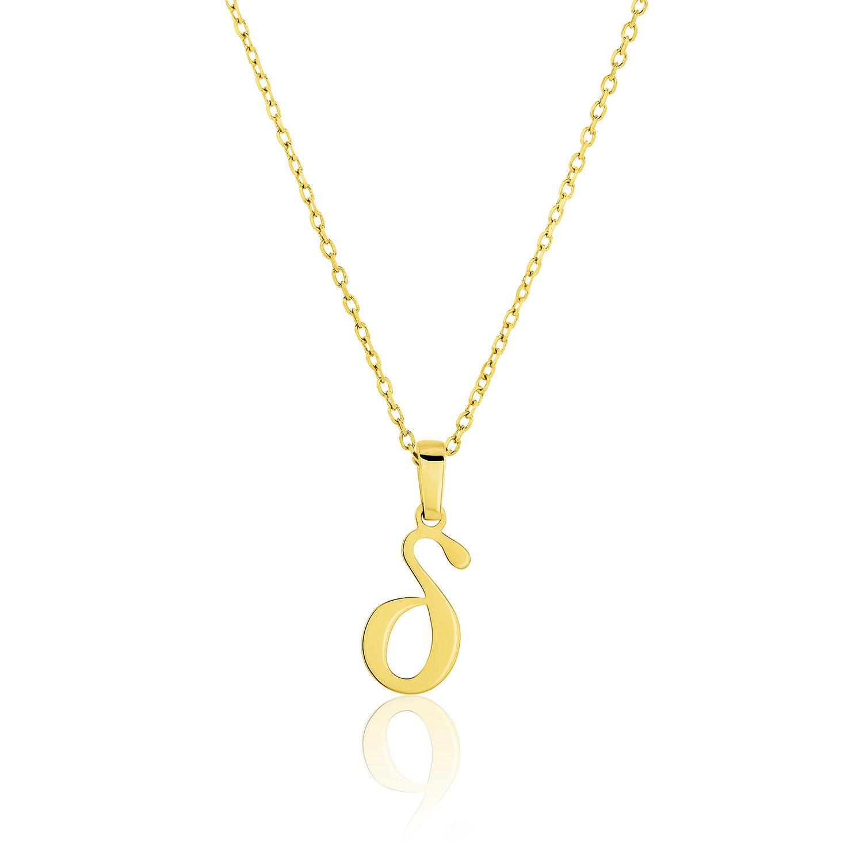 Μενταγιόν Alphabet γράμμα ''δ'' από χρυσό 18Κ