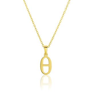 Μενταγιόν Alphabet γράμμα ''θ'' από χρυσό 18Κ