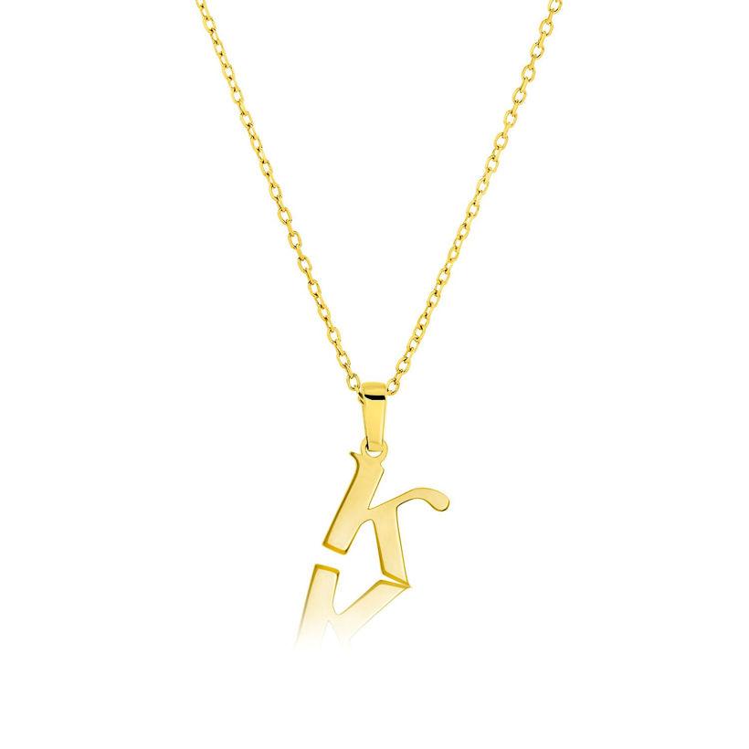 Μενταγιόν Alphabet γράμμα ''κ'' από χρυσό 18Κ