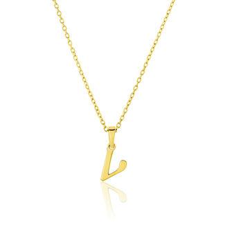 Μενταγιόν Alphabet γράμμα ''ν'' από χρυσό 18Κ