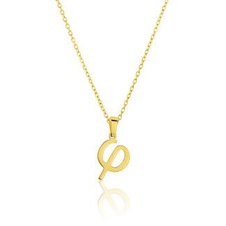 Μενταγιόν Alphabet γράμμα ''φ'' από χρυσό 18Κ