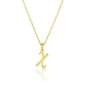 Μενταγιόν Alphabet γράμμα ''χ'' από χρυσό 18Κ