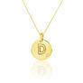 Μενταγιόν Alphabet μονόγραμμα ''D'' από χρυσό 18Κ με διαμάντι μπριγιάν