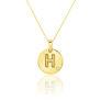 Μενταγιόν Alphabet μονόγραμμα ''H'' από χρυσό 18Κ με διαμάντι μπριγιάν