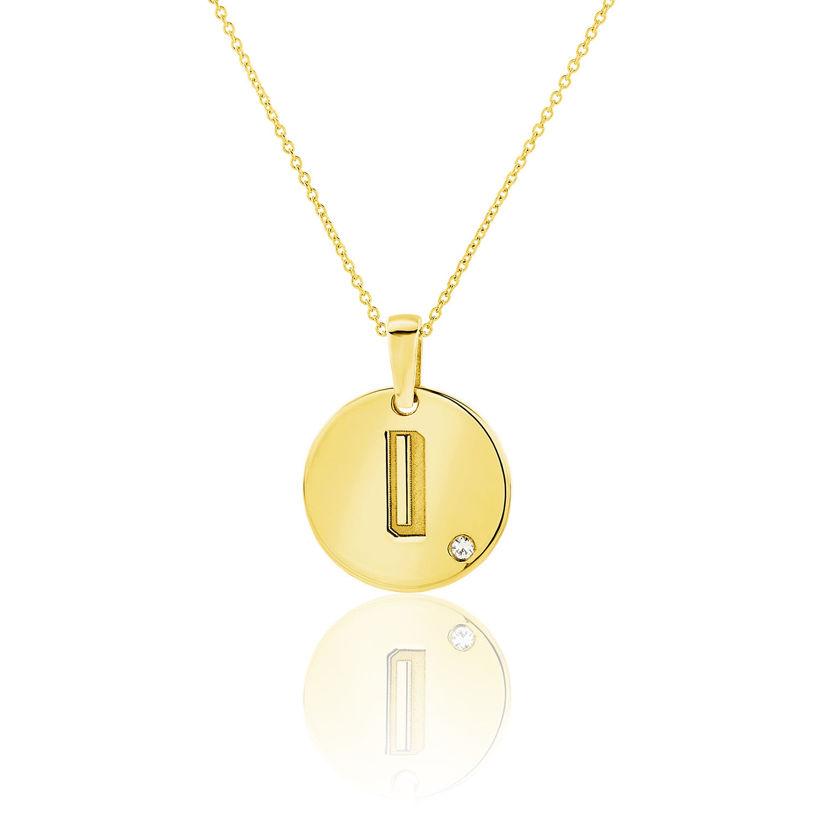 Μενταγιόν Alphabet μονόγραμμα ''I'' από χρυσό 18Κ με διαμάντι μπριγιάν