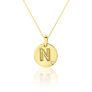 Μενταγιόν Alphabet μονόγραμμα ''N'' από χρυσό 18Κ με διαμάντι μπριγιάν