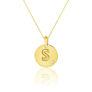 Μενταγιόν Alphabet μονόγραμμα ''S'' από χρυσό 18Κ με διαμάντι μπριγιάν
