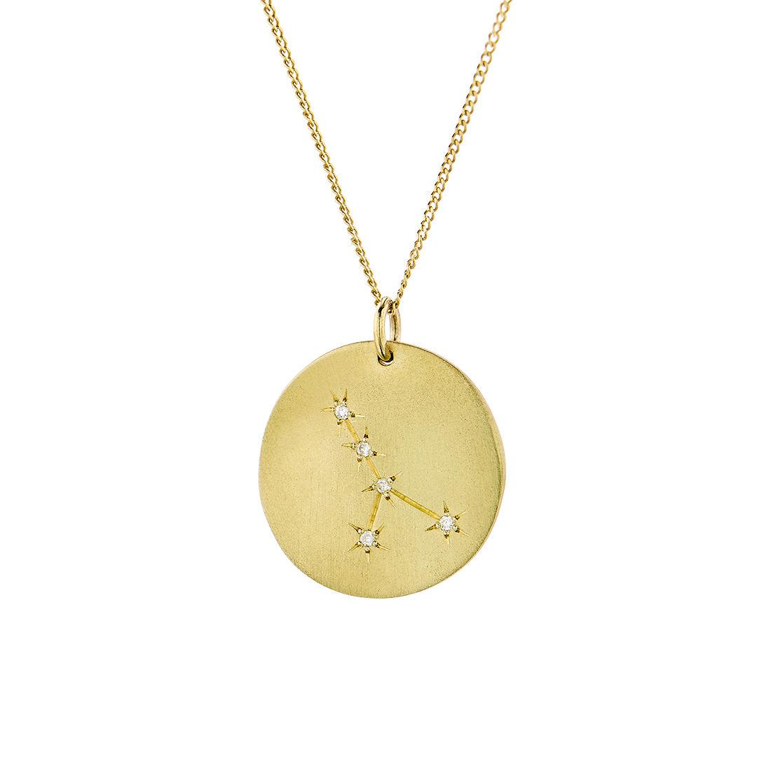 Μενταγιόν Constellation Καρκίνος από χρυσό 9Κ με διαμάντια μπριγιάν