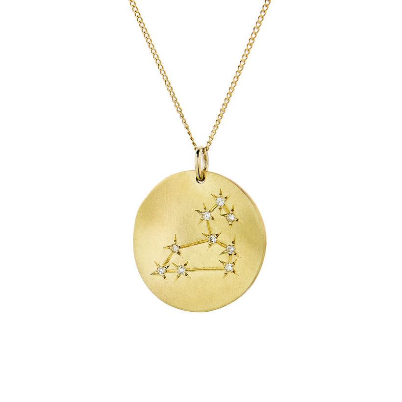 Μενταγιόν Constellation Λέων από χρυσό 9Κ με διαμάντια μπριγιάν