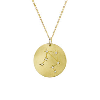 Μενταγιόν Constellation Ζυγός από χρυσό 9Κ με διαμάντια μπριγιάν