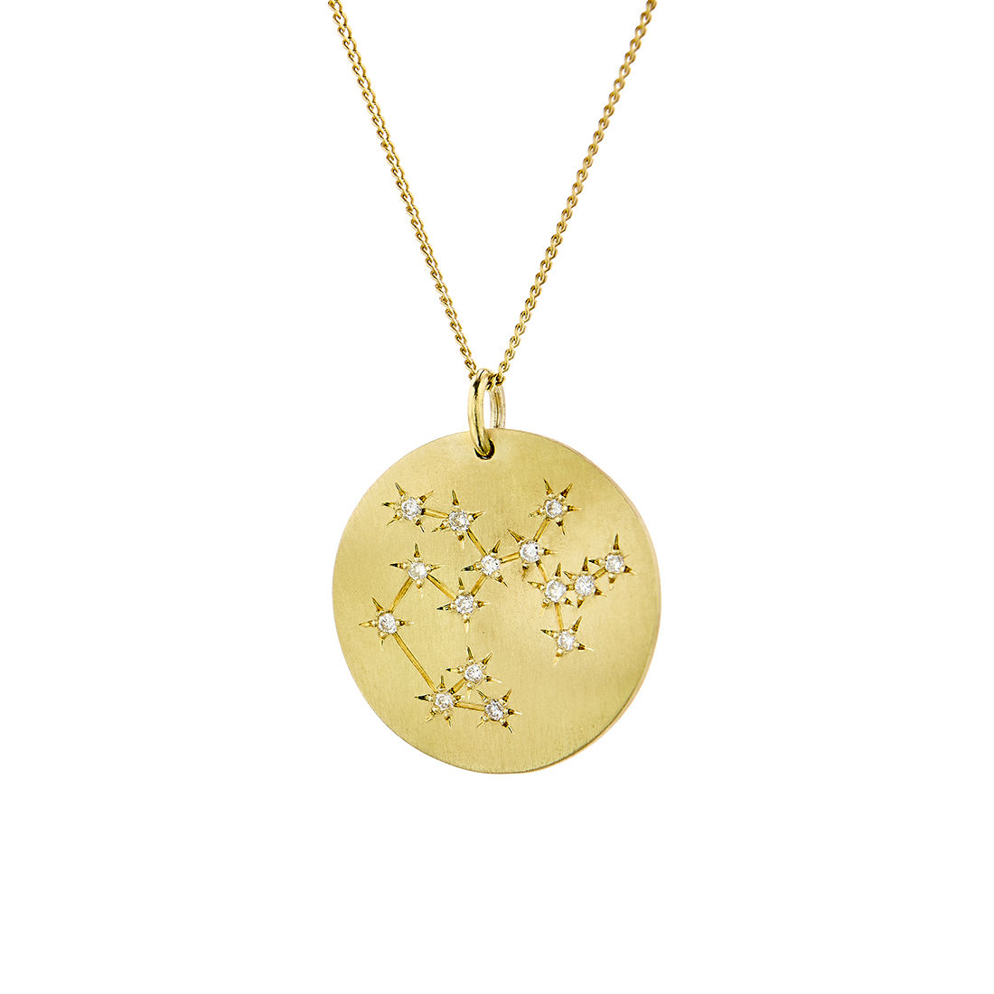 Μενταγιόν Constellation Τοξότης από χρυσό 9Κ με διαμάντια μπριγιάν