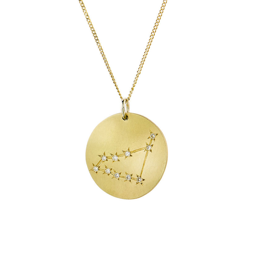 Μενταγιόν Constellation Αιγόκερως από χρυσό 9Κ με διαμάντια μπριγιάν
