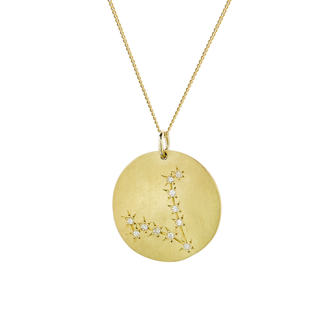 Μενταγιόν Constellation Ιχθύς από χρυσό 9Κ με διαμάντια μπριγιάν