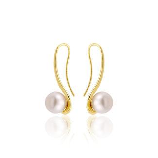 Σκουλαρίκια Pearls από χρυσό 18Κ με freshwater pearl