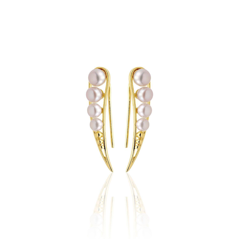 Σκουλαρίκια Pearls από χρυσό 18Κ με freshwater pearls