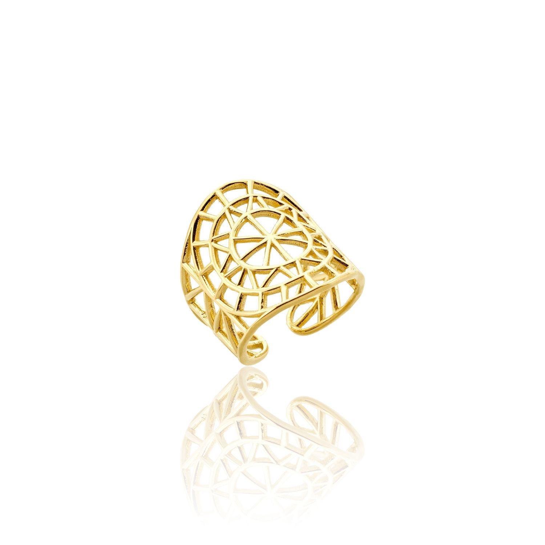 Δαχτυλίδι Cyclades από επιχρυσωμένο ασήμι 925°