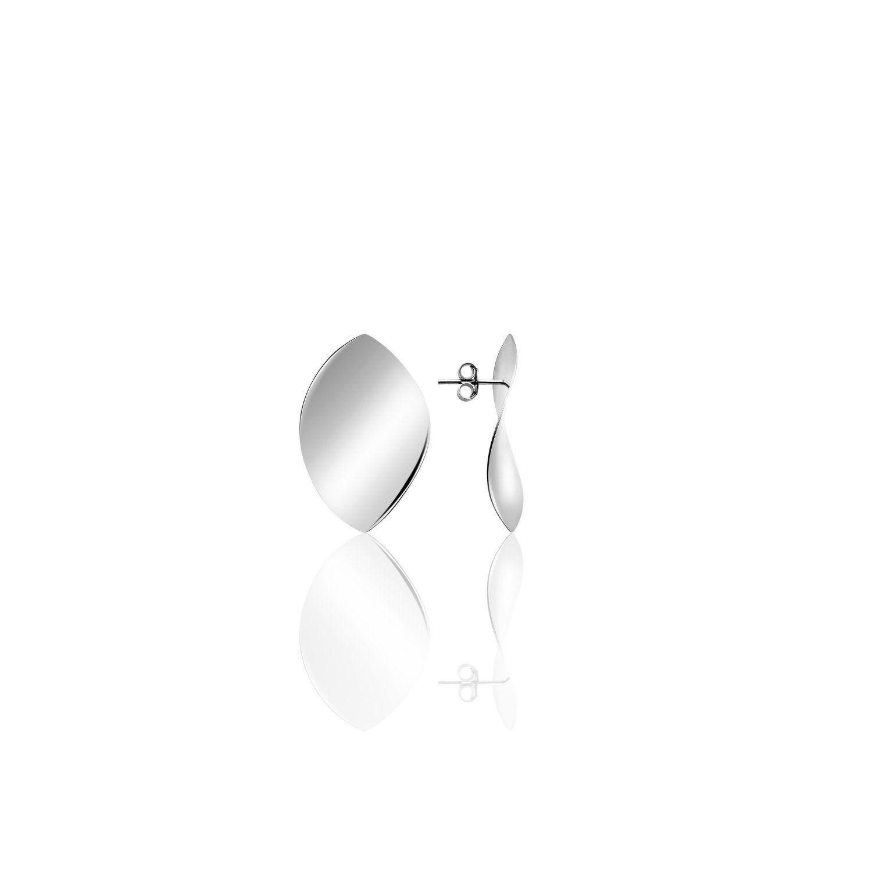 Σκουλαρίκια Reflections από επιροδιωμένο ασήμι 925°