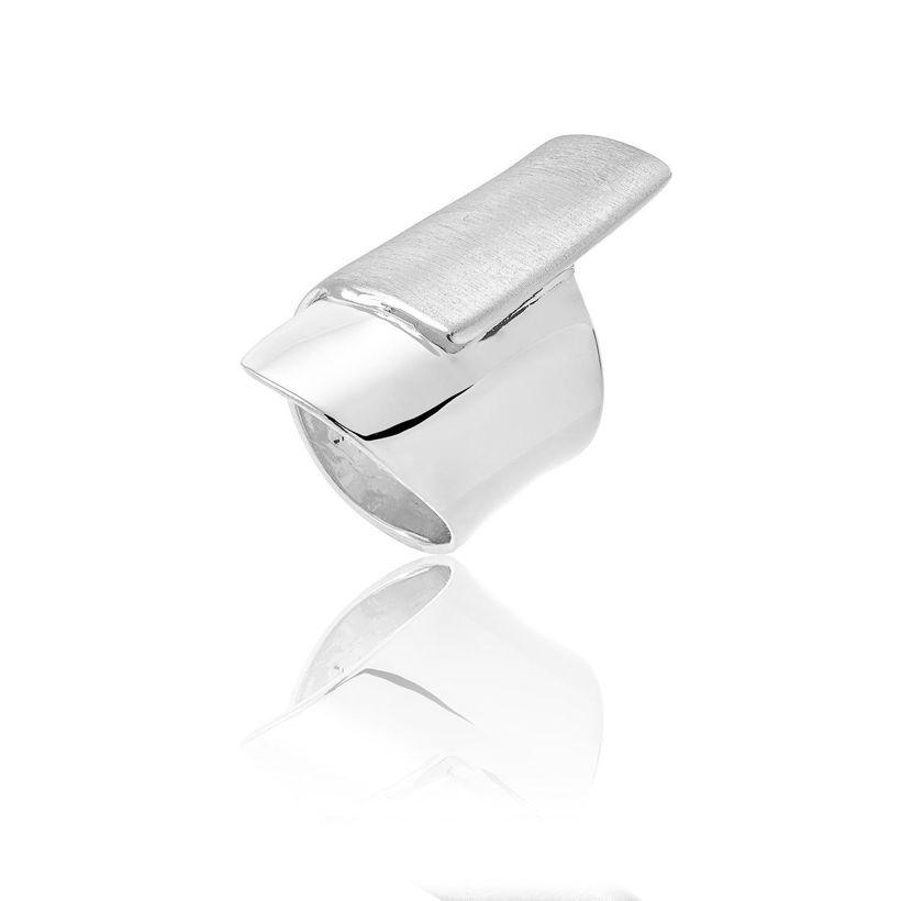Δαχτυλίδι Reflections από επιροδιωμένο ασήμι 925° ματ και polished