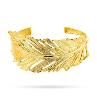 Βραχιόλι Gaia Gold από χρυσό 18Κ με σχέδιο φύλλο
