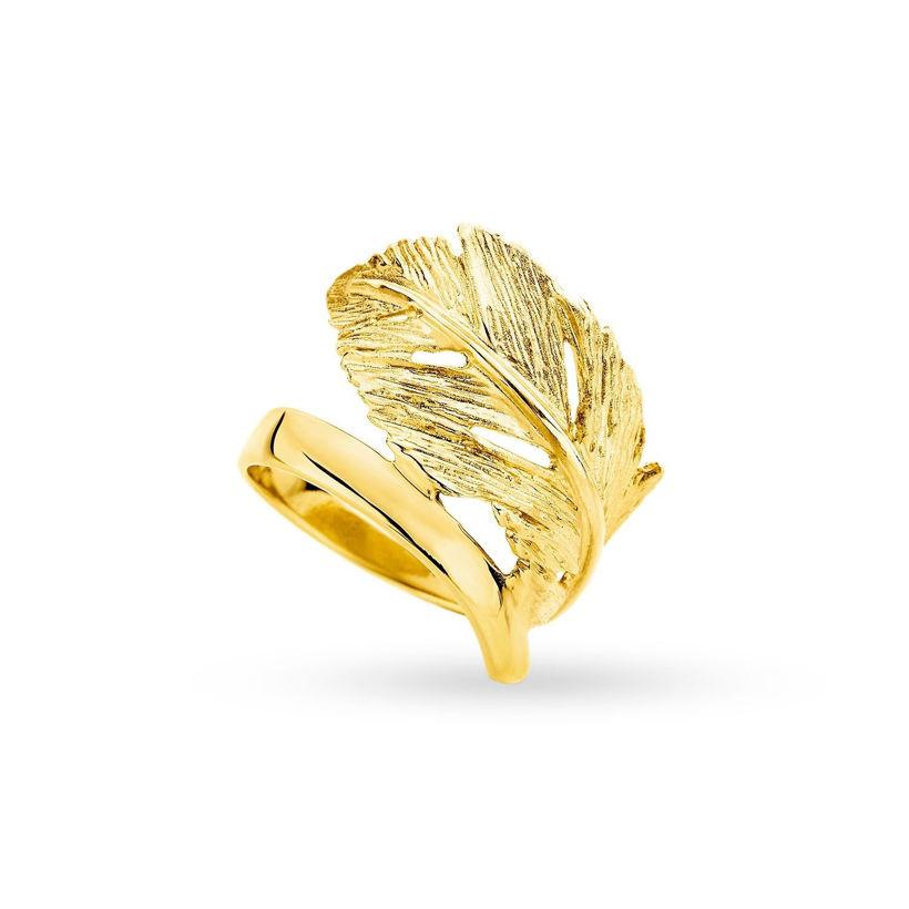Δαχτυλίδι Gaia Gold από χρυσό 18Κ με σχέδιο φύλλο