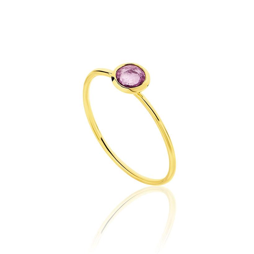 Δαχτυλίδι Gems από χρυσό 18Κ με ροζ ζαφείρι