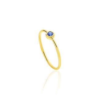 Δαχτυλίδι Gems από χρυσό 18Κ με μπλε ζαφείρι