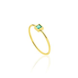 Δαχτυλίδι Gems από χρυσό 18Κ με σμαράγδι