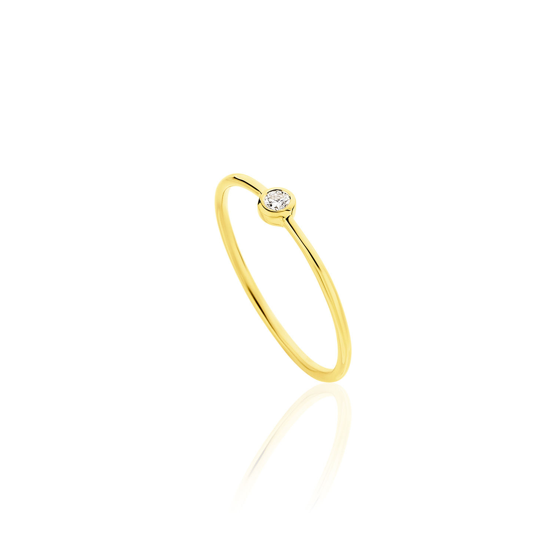 Δαχτυλίδι Gems από χρυσό 18Κ με διαμάντι μπριγιάν
