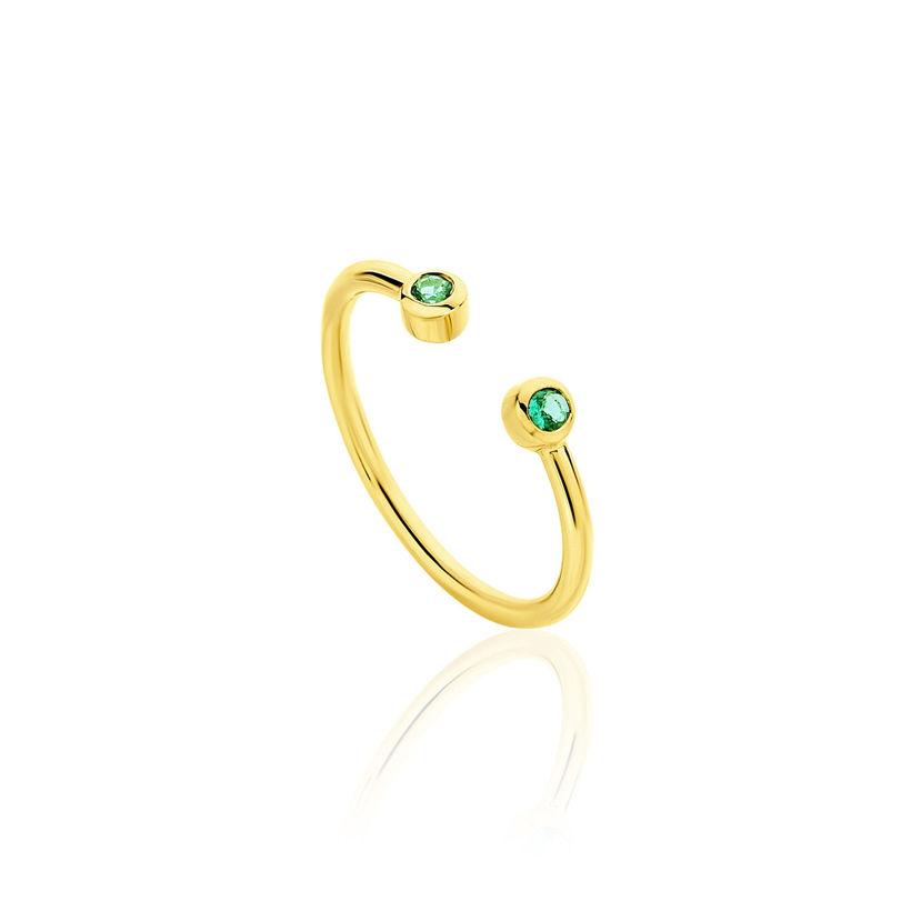 Δαχτυλίδι Gems από χρυσό 18Κ με σμαράγδια