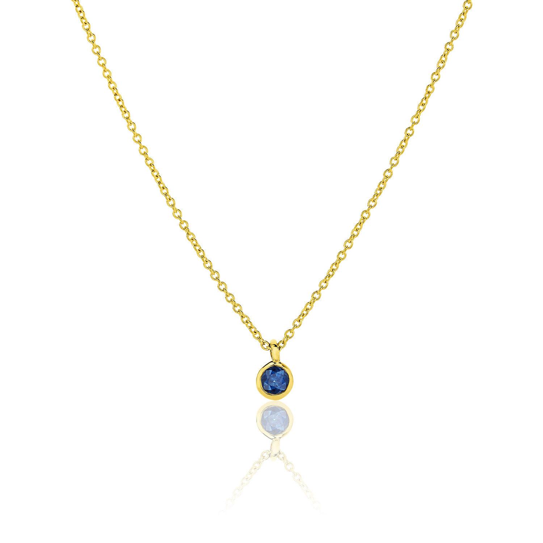 Κολιέ Gems από χρυσό 18Κ με μπλε ζαφείρι