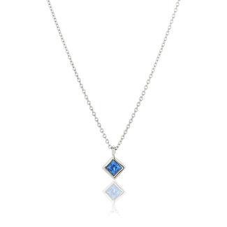 Κολιέ Gems από λευκό χρυσό 18Κ με μπλε ζαφείρι