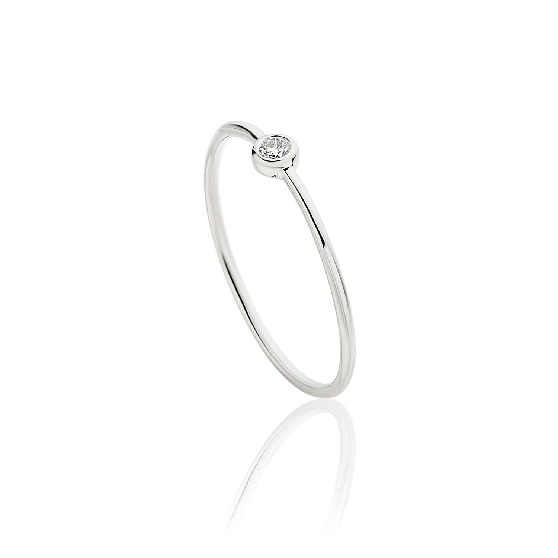 Δαχτυλίδι Gems από λευκό χρυσό 18Κ με διαμάντι μπριγιάν