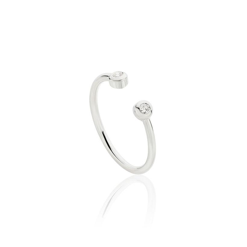 Δαχτυλίδι Gems από λευκό χρυσό 18Κ με διαμάντια μπριγιάν