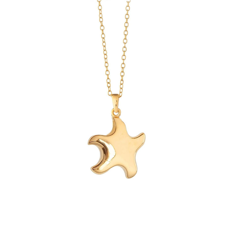 Μενταγιόν Be My Star από επιχρυσωμένο ασήμι 925°