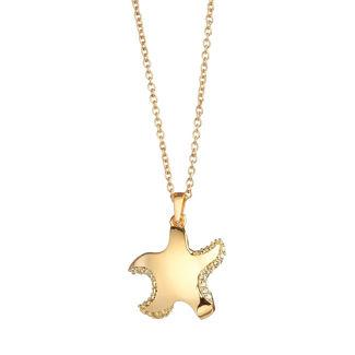 Μενταγιόν Be My Star από επιχρυσωμένο ασήμι 925° με κίτρινα ζιργκόν