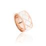 Δαχτυλίδι Lotus από ροζ επιχρυσωμένο ασήμι 925° και λευκό σμάλτο