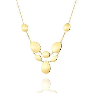 Κολιέ Aurum από χρυσό 18Κ με κυκλικά στοιχεία