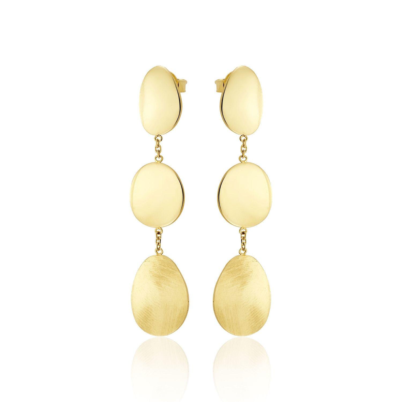 Σκουλαρίκια Aurum από χρυσό 18Κ με κυκλικά στοιχεία