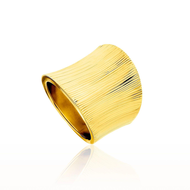Δαχτυλίδι Aurum από χρυσό 18Κ με ανάγλυφο σχέδιο