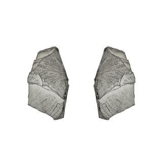 Σκουλαρίκια Gaia από μαύρο επιροδιωμένο ασήμι 925°