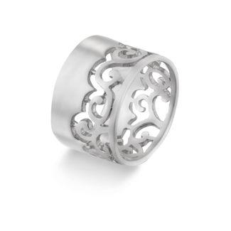 Δαχτυλίδι Arabesque από επιροδιωμένο ασήμι 925°