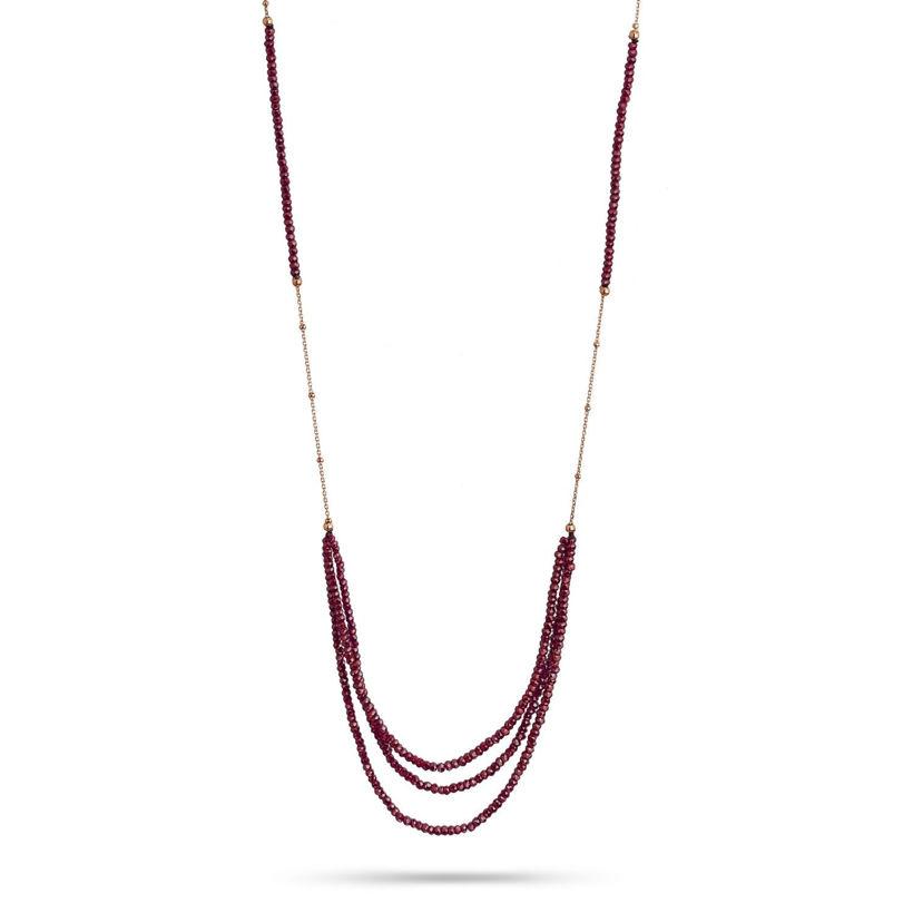Κολιέ Iris από επιχρυσωμένο ασήμι 925° με ρίζα ρουμπινιού