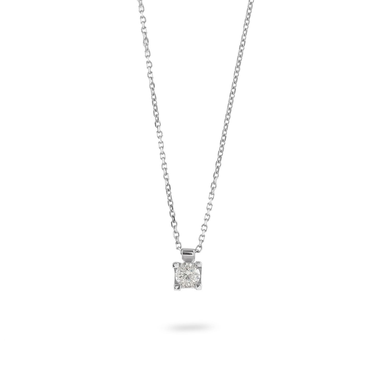 Κολιέ Diamonds από λευκό χρυσό 18Κ με διαμάντι μπριγιάν