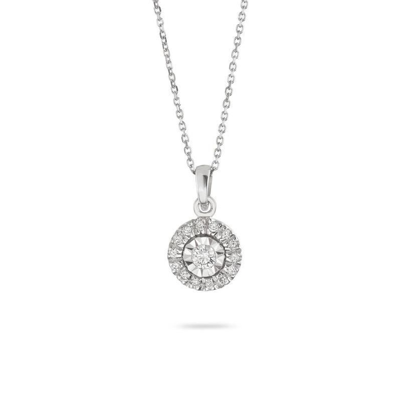 Κολιέ Diamonds από λευκό χρυσό 18Κ με διαμάντια μπριγιάν