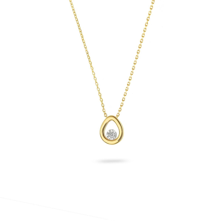 Κολιέ Diamonds από χρυσό 18Κ με διαμάντι μπριγιάν
