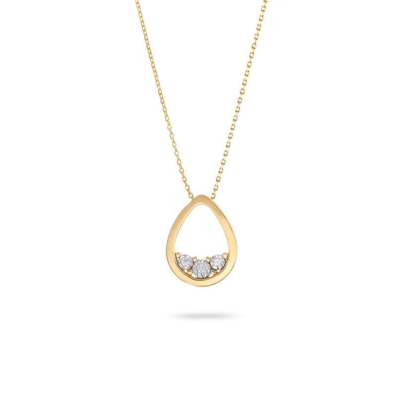 Κολιέ Diamonds από χρυσό 18Κ με διαμάντια μπριγιάν