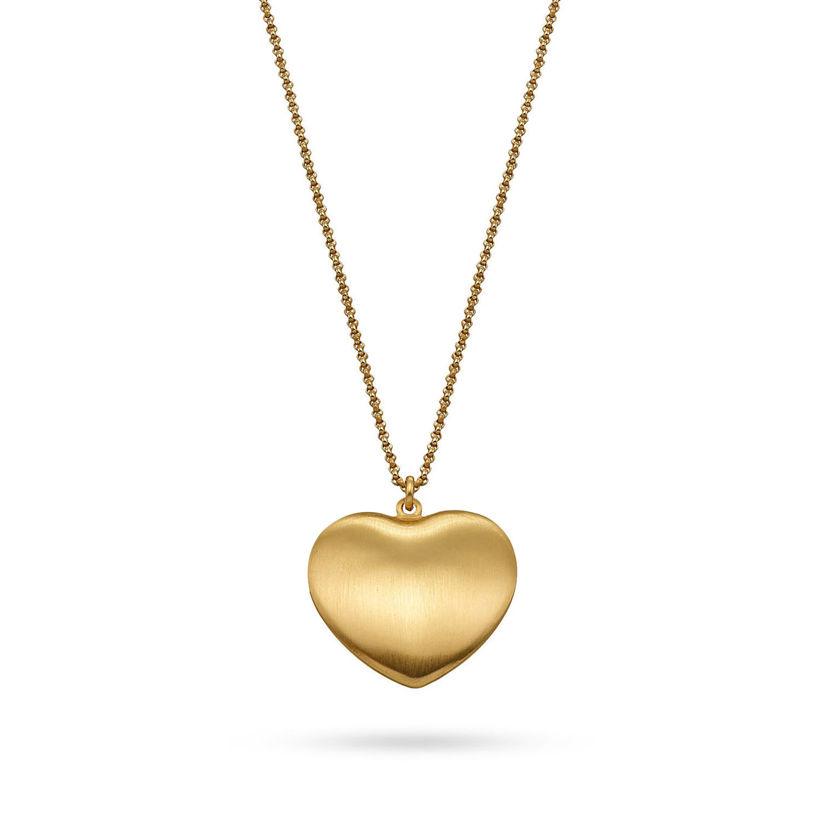 Μενταγιόν Roma Καρδιά large από επιχρυσωμένο ασήμι 925°