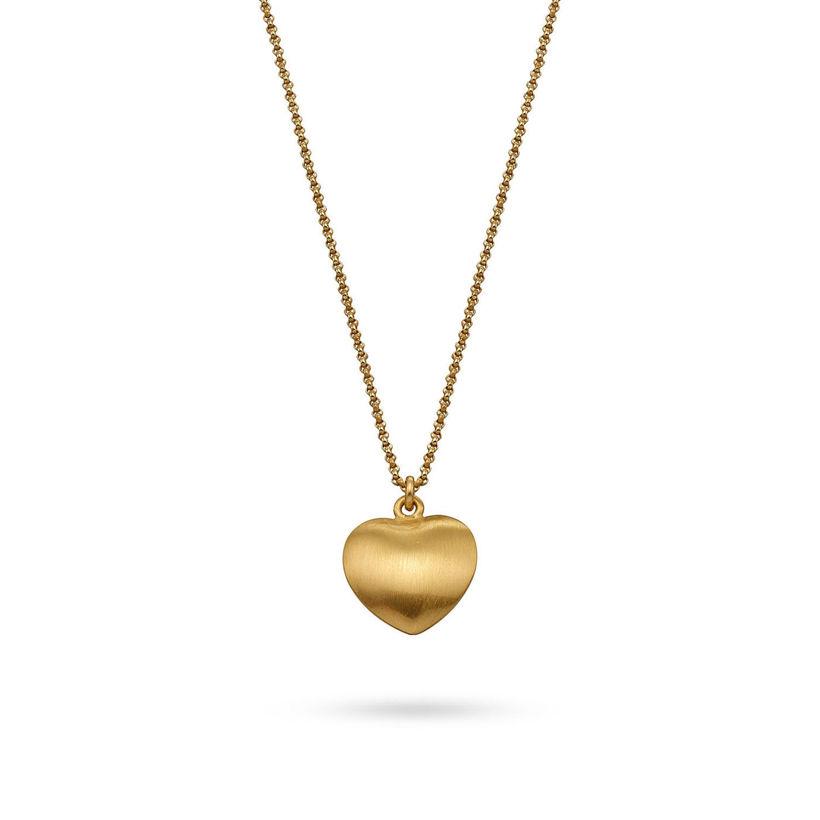 Μενταγιόν Roma Καρδιά small από επιχρυσωμένο ασήμι 925°